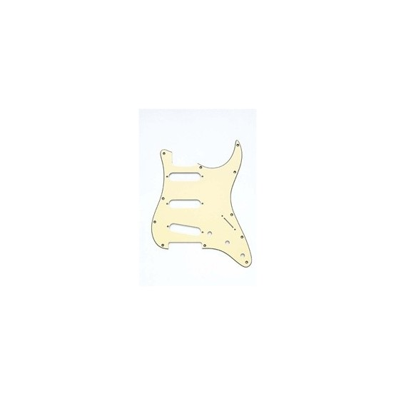 ALL PARTS PG0552048 PICK GUARD FOR STRAT, VINTAGE CREAM 3-PLY (VC/B/VC) (11 SCREW HOLES)