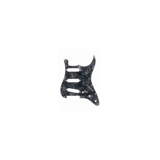 ALL PARTS PG0552052 PICK GUARD FOR STRAT DARK BLACK PEARLOID 3-PLY (DBP/B/W)