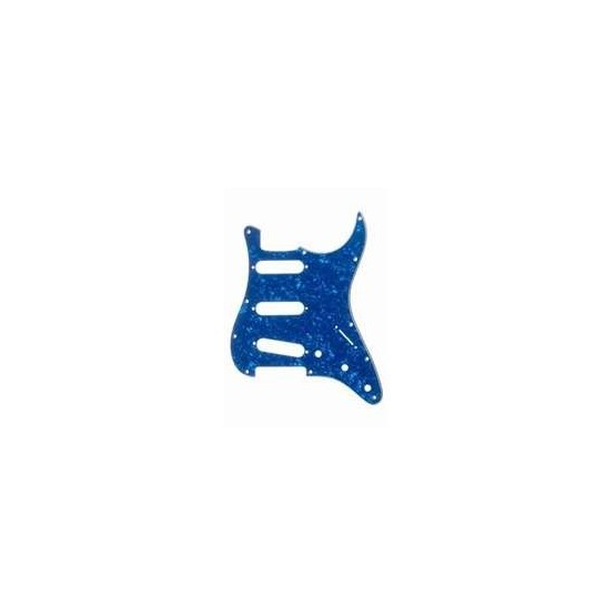 ALL PARTS PG0552057 PICK GUARD FOR STRAT, BLUE PEARLOID 3-PLY (BP/W/B) (11 SCREW HOLES).