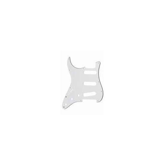 ALL PARTS PG0552L35 PICK GUARD FOR STRAT, LEFT-HANDED, WHITE 3-PLY (W/B/W)