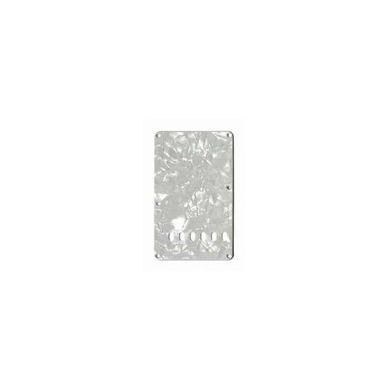 ALL PARTS PG0556055 TREMOLO SPRING COVER, WHITE PEARLOID 3-PLY (WP/W/B)