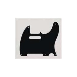 ALL PARTS PG0560023 PICK GUARD FOR TELE BLACK 1-PLY (5 SCREW HOLES)