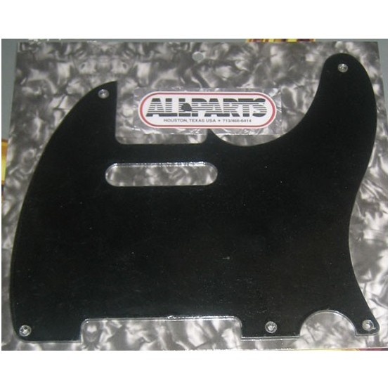ALL PARTS PG0560038 PICK GUARD FOR TELE, BLACK BAKELITE 1-PLY (080) (5 SCREW HOLES)