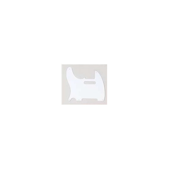 ALL PARTS PG0560L25 PICK GUARD FOR TELE, LEFT-HANDED, WHITE 1-PLY (5 SCREW HOLES)