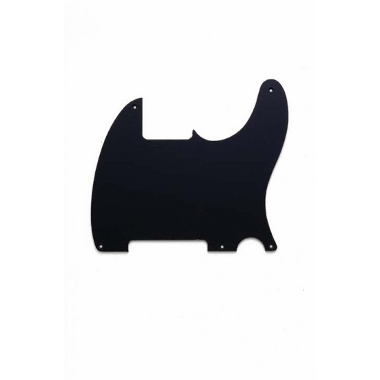 ALL PARTS PG0567023 PICK GUARD FOR ESQUIRE, BLACK 1-PLY (5 SCREW HOLES)