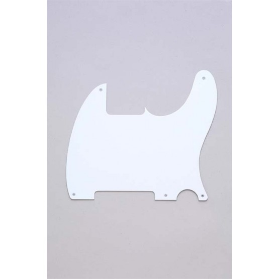 ALL PARTS PG0567025 PICK GUARD FOR ESQUIRE, WHITE 1-PLY (5 SCREW HOLES)