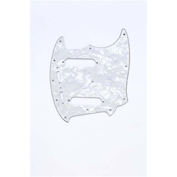 ALL PARTS PG0581055 PICK GUARD FOR MUSTANG WHITE PEARLOID 3-PLY (WP/W/B)