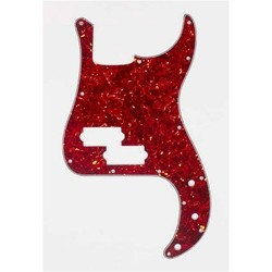ALL PARTS PG0750044 PICK GUARD FOR P BASS VINTAGE RED TORTOISE 3-PLY (RT/W/B)