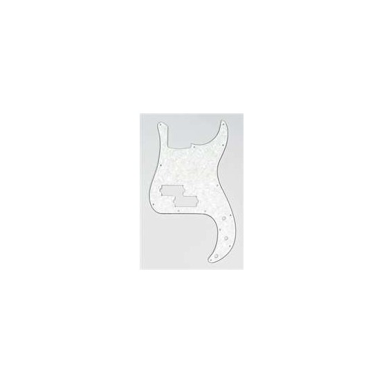 ALL PARTS PG0750065 PICK GUARD FOR P BASS, PARCHMENT PEARLOID 3-PLY (PP/B/W)