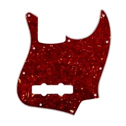 ALL PARTS PG0755044 PICK GUARD FOR J BASS, VINTAGE RED TORTOISE 3-PLY (RT/W/B)