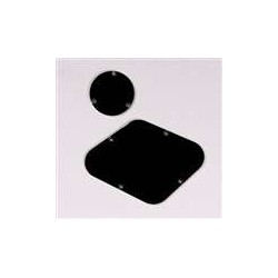 ALL PARTS PG0814023 BACK PLATE & SWITCH COVER FOR LES PAUL, BLACK 1-PLY