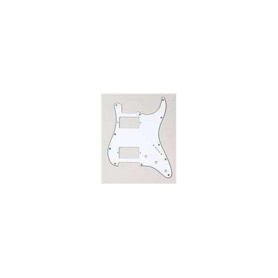 ALL PARTS PG9595035 PICK GUARD 2 HUMBUCKERS FOR STRAT, WHITE 3-PLY (11 SCREW HOLES)