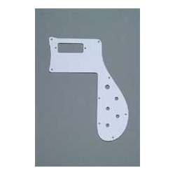 ALL PARTS PG9845025 PICK GUARD FOR RICKENBACKER BASS 4001, WHITE 1-PLY, 1973 AND EARLIER