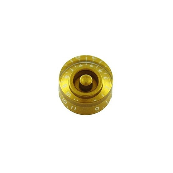 ALL PARTS PK0132032 SPEED KNOBS (2) GOLD, NUMBERS 0 - 11, FITS USA SPLIT SHAFT POTS