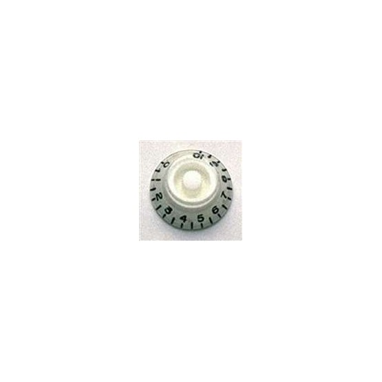 ALL PARTS PK0140025 BELL KNOBS (2) WHITE, FITS USA SPLIT SHAFT POTS