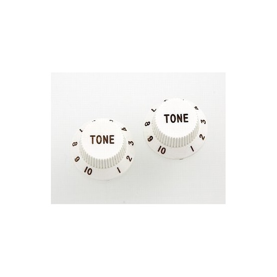 ALL PARTS PK0153025 TONE KNOBS (2) WHITE, FOR STRAT FITS USA SPLIT SHAFT POTS