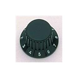 ALL PARTS PK0183023 BLACK KNOBS (2) WITH BLACK RUBBER GRIP, FITS USA SPLIT SHAFT POTS.