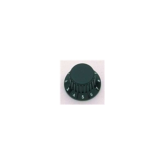 ALL PARTS PK0183023 BLACK KNOBS (2) WITH BLACK RUBBER GRIP, FITS USA SPLIT SHAFT POTS.
