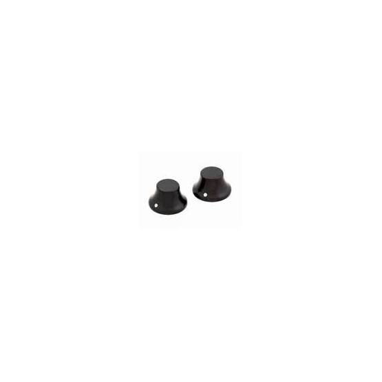 ALL PARTS PK31970E0 EBONY WOOD BELL KNOBS (2) PUSH-ON