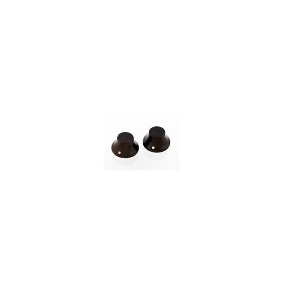 ALL PARTS PK31970R0 ROSEWOOD WOOD BELL KNOBS (2) PUSH-ON.