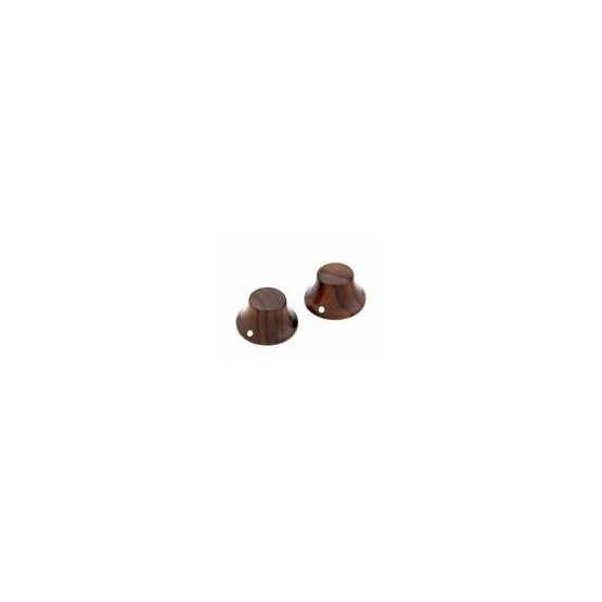 ALL PARTS PK31970W0 WALNUT WOOD BELL KNOBS (2) PUSH-ON