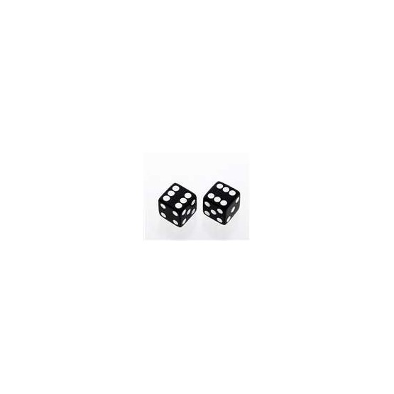 ALL PARTS PK3250023 BLACK DICE KNOBS (2 PIECES) WITH SET SCREW