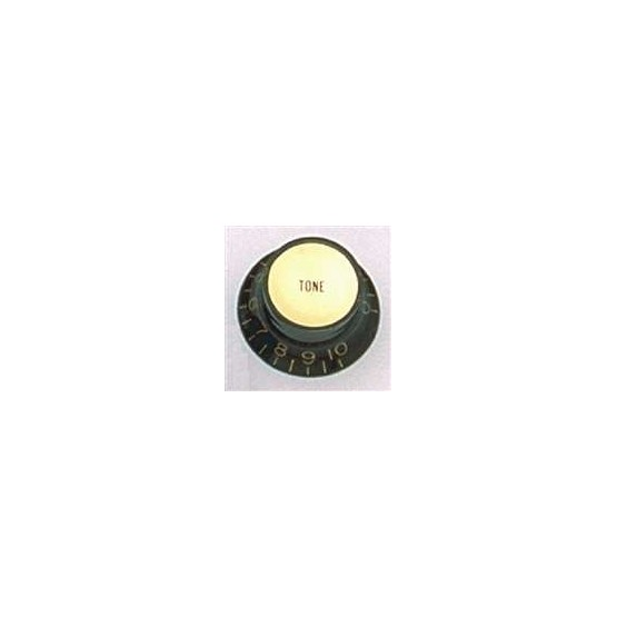 ALL PARTS PK3292023 REFLECTOR CAP (GOLD) TONE KNOBS (2) BLACK, FITS USA SPLIT SHAFT POTS