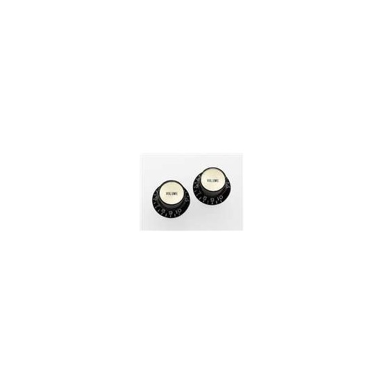 ALL PARTS PK3294023 REFLECTOR CAP (GOLD) VOLUME KNOBS (2) BLACK