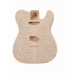 ALL PARTS TBOQM REPLACEMENT BODY FOR TELE ALDER, WITH AAA QUILT MAPLE TOP, NO FINISH.