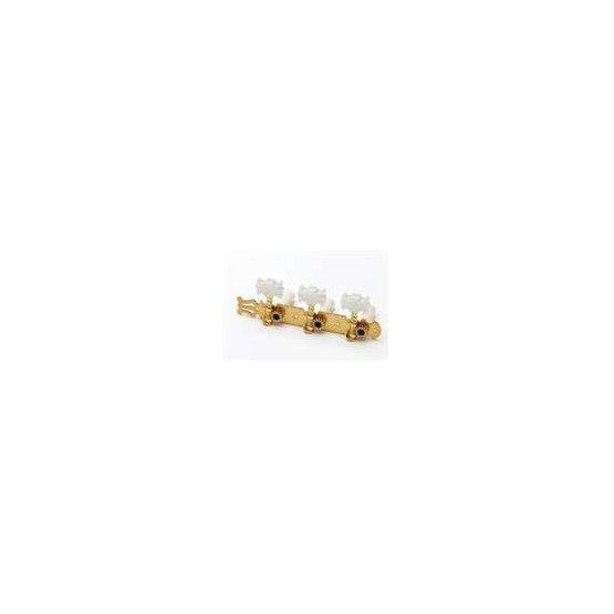 ALL PARTS TK0125002 CLASSICAL TUNING KEYS, GOLD, WITH PEARLOID BUTTONS