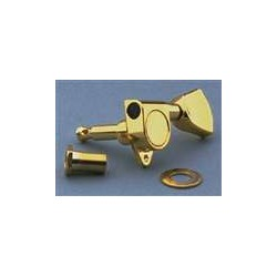 ALL PARTS TK0777002 SEALED TUNING KEYS, SCREW-IN BUSHINGS, METAL KEYSTONE, GOLD, 14:1