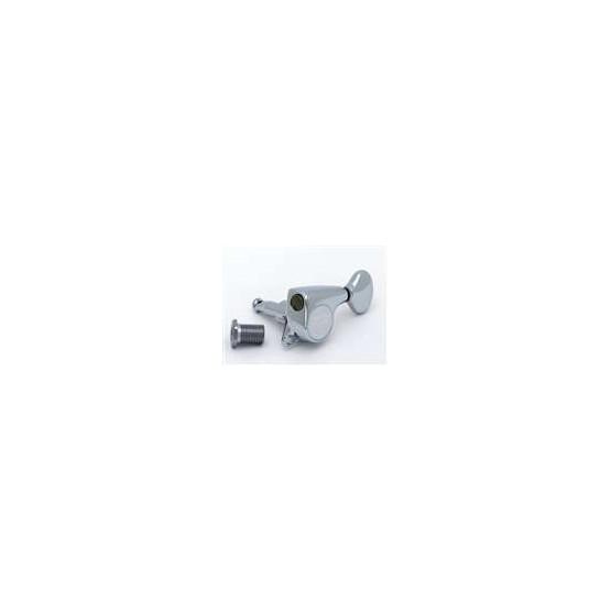 Open Gear 3 x 3 Tuning Keys on Plank w//White Buttons Allparts TK-0776-001