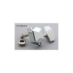 ALL PARTS TK7558010 ECONOMY TUNING KEYS DIAGONAL MOUNTING HOLES 3 X 3 CHROME