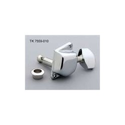 ALL PARTS TK7559010 ECONOMY TUNING KEYS DIAGONAL MOUNTING HOLES 6-IN-LINE CHROME