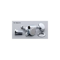 ALL PARTS TK7560010 ECONOMY TUNING KEYS, CHROME, 6-IN-LINE, WITH HARDWARE, 15:1
