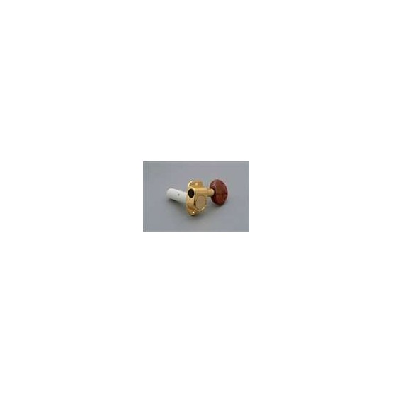 ALL PARTS TK7965002 INDIVIDUAL CLASSICAL TUNING KEYS SET 6 GOLD W AMBER BUTTONS