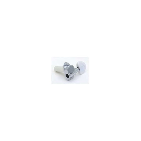 ALL PARTS TK7965010 INDIVIDUAL CLASSICAL TUNING KEYS 6 CHROME WITH WHITE BUTTONS