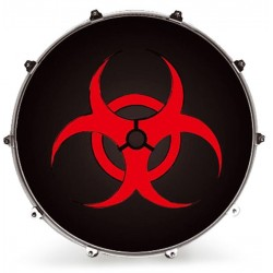 EVANS INK22GRPBIO PARCHE BOMBO RESONANTE INKED GRAPHICS BIO HAZARD - 22.