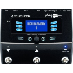 TC HELICON PLAY ACOUSTIC PROCESADOR DE VOZ Y GUITARRA.