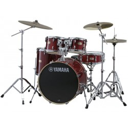 YAMAHA SBP2F5CR HW780 STAGE CUSTOM BIRCH BATERIA ACUSTICA CON HERRAJES CRANBERRY RED