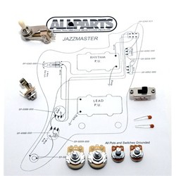 ALL PARTS EP4135000 WIRING KIT FOR JAZZMASTER BRACKET POTS SWITCHCRAFT