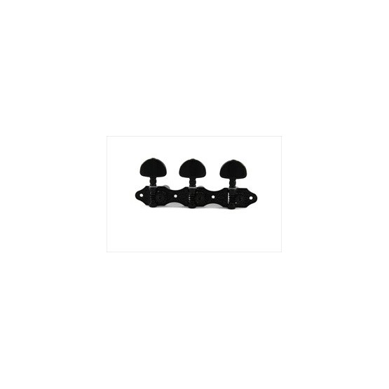 ALL PARTS TK7957003 CLASSICAL HAUSER STYLE TUNING KEYS BLACK WITH BLACK ROLLER