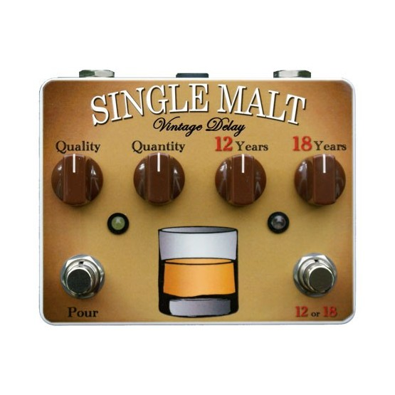 TORTUGA EFFECTS SINGLE MALT PEDAL DUAL VINTAGE DELAY