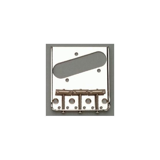 ALL PARTS TB0020L01 LEFT HANDED NICKEL VINTAGE 3 SADDLE TELECASTER BRIDGE