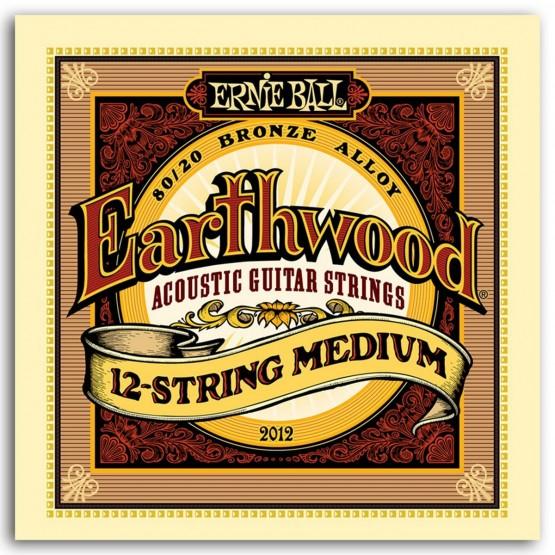 ERNIE BALL EB2012 EARTHWOOD JUEGO 12 CUERDAS GUITARRA ACUSTICA BRONCE 11-52