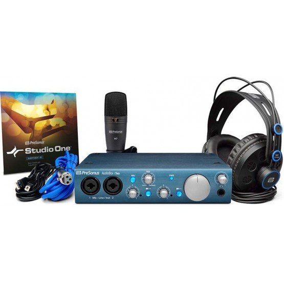 PRESONUS ITWOSTUDIOBUNDLE PACK AUDIOBOX ITWO INTERFAZ DE AUDIO USB.