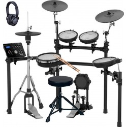 ROLAND -PACK- TD25K BATERIA ELECTRONICA+PEDAL BOMBO+PEDAL HIHAT+ASIENTO+ AURICULARES Y BAQUETAS