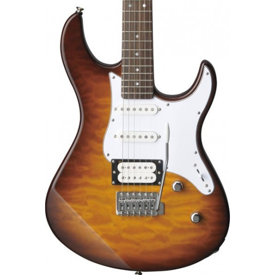 YAMAHA PACIFICA 212VQM TBS GUITARRA ELECTRICA QUILTED MAPLE TOBACCO BROWN SUNBURST