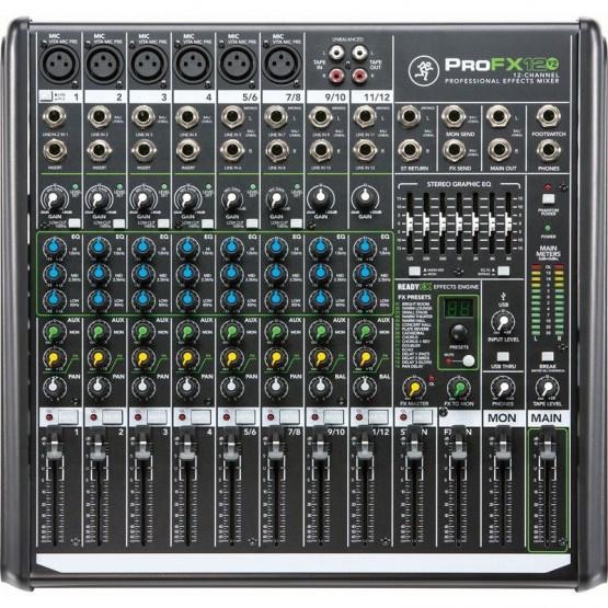 MACKIE PRO FX12 V2 MESA DE MEZCLAS 12 CANALES CON EFECTOS E INTERFAZ DE AUDIO USB
