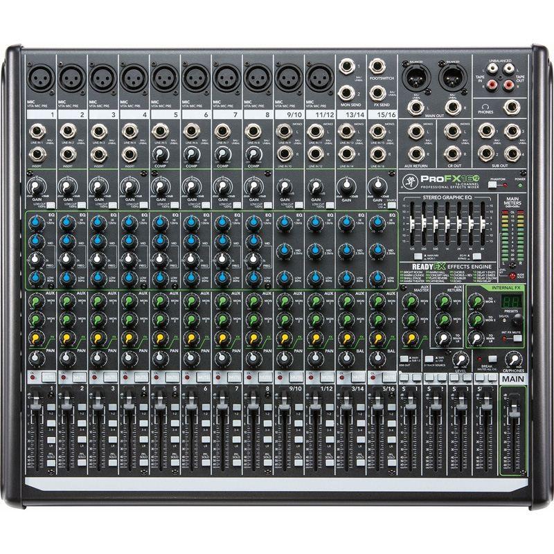 Mackie pro fx16 v2 mesa de mezclas 16 canales con efectos e interfaz de audio usb precio tienda - Mesa de mezclas 2 canales ...